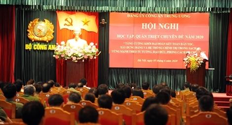 Bộ Công an tổ chức hội nghị học tập, quán triệt Chuyên đề năm 2020