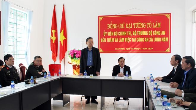 Bộ trưởng Tô Lâm thăm và làm việc tại Công an tỉnh Cao Bằng - Ảnh minh hoạ 6