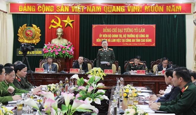 Bộ trưởng Tô Lâm thăm và làm việc tại Công an tỉnh Cao Bằng - Ảnh minh hoạ 4