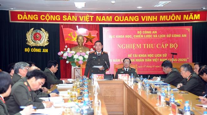 """Nghiệm thu Đề tài khoa học lịch sử cấp Bộ  """"75 năm Công an nhân dân Việt Nam"""" - Ảnh minh hoạ 6"""