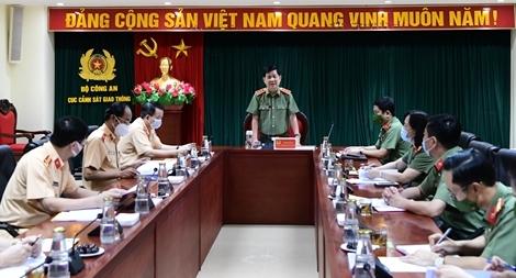 Cục CSGT đẩy mạnh công tác phòng chống dịch trong thực hiện nhiệm vụ